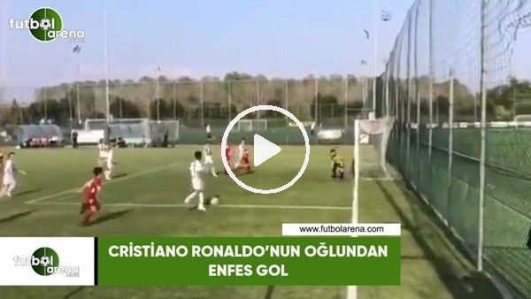 'Cristiano Ronaldo'nun oğlundan enfes gol