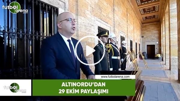 'Altınordu'dan 29 Ekim paylaşımı