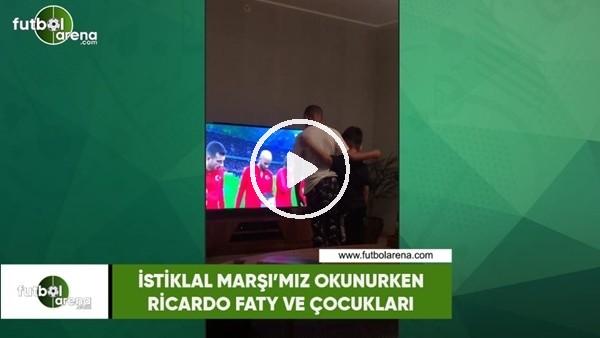 'İstiklal Marşı'mız okunurken Ricardo Faty ve çocukları
