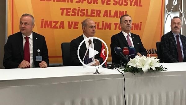 'Galatasaray Büyükçekmece Spor Tesisleri için imza töreni yapıldı