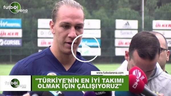 """'Michael Frey: """"Türkiye'nin en iyi takımı olmak için çalışıyoruz"""""""
