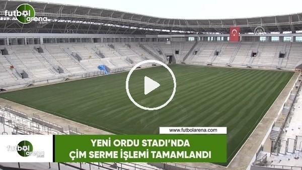 'Yeni Ordu Stadı'nda çim serme işlemi tamamlandı