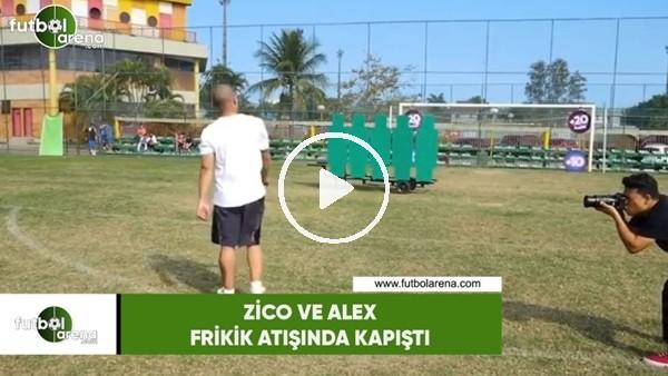 'Zico ve Alex, frikik atışında kapıştı