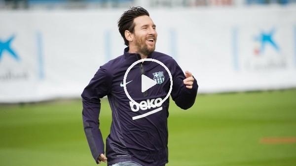 'Lionel Messi antrenmanlara başladı