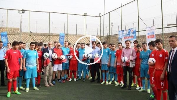 'Futbolun efsaneleri hükümlülerle buluştu