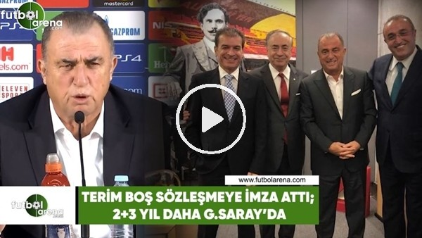 'Fatih Terim boş sözleşmeye imza attı! 2+3 yıl daha Galatasaray'da...