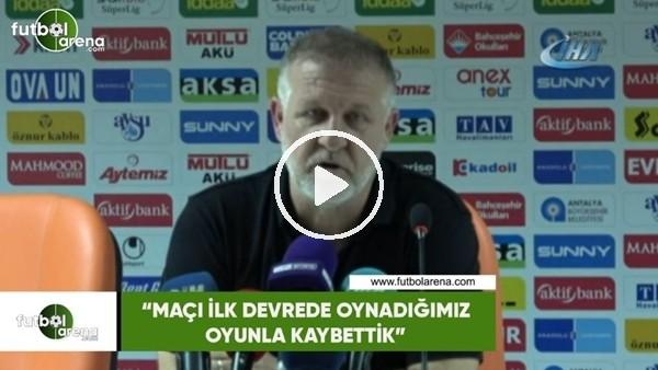 """'Mesut Bakkal: """"Maçı ilk devre oynadığımız oyunla kaybetttik"""""""