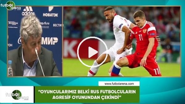 """'Lucescu: """"Oyuncularımız belki Rus futbolcuların agresif oyunundan çekindi"""""""