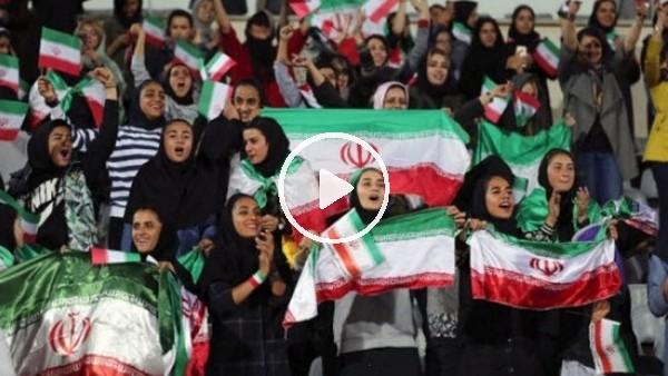 'Yasak kalktı, İranlı kadınlar maça gitti