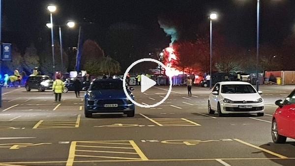 'Leicester City kulübünün sahibine ait olan helikopter düştü