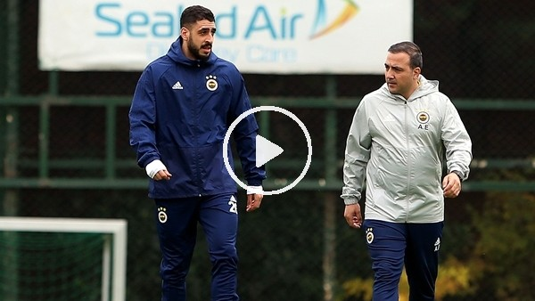 'Fenerbahçe'de Tolga Ciğerci ilk kez takım ile birlikte çalıştı