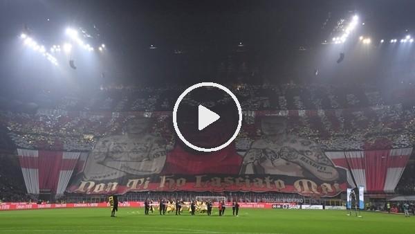 Milan taraftarlarının Juventus maçında yaptığı koreografi