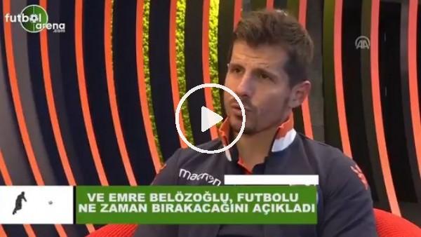 'Emre Belözoğlu futbolu ne zaman bırakacağını açıkladı