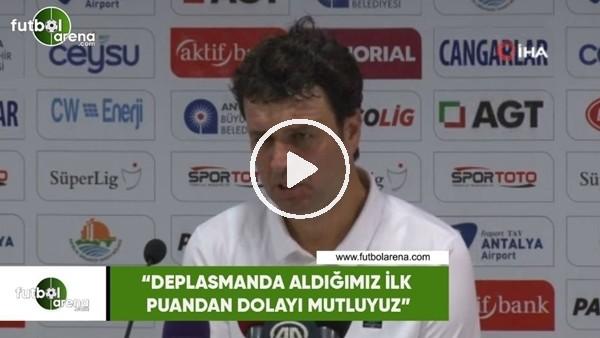 """'Cihat Arslan: """"Deplasmanda aldığımız ilk puandan dolayı mutluyuz"""""""