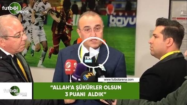 """'Abdurrahim Albayrak: """"Allah'a şükürler olsun 3 puanı aldık"""""""