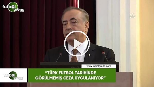 """'Mustafa Cengiz: """"Türk futbol tarihinde görülmemiş ceza uygulanıyor"""""""