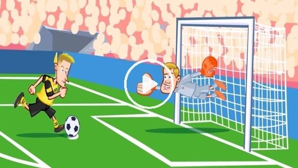 Borussia Dortmund - Bayern Münih maçı animasyon flm oldu