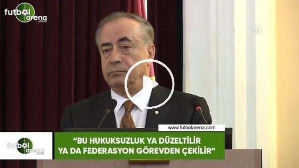 """'Mustafa Cengiz: """"Bu hukuksuzluk ya düzeltilir ya da federasyon görevden çekilir"""""""