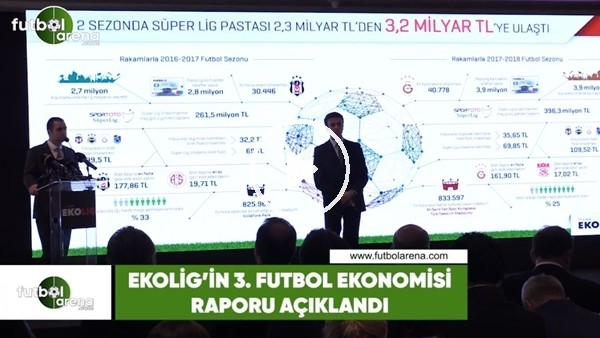 'EkoLig'in 3. Futbol Ekonomisi raporu açıklandı