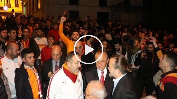 Galatasaray taraftarı TFF'yi protesto etti