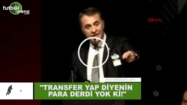 """'Fikret Orman: """"Transfer yap diyenlerin para derdi yok ki"""""""