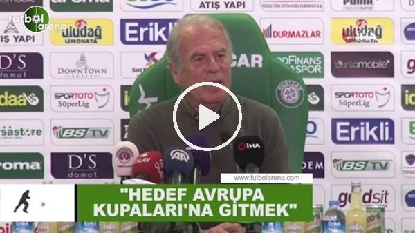 """'Mustafa Denizli: """"Hedef Avrupa Kupaları'na gitmek"""""""