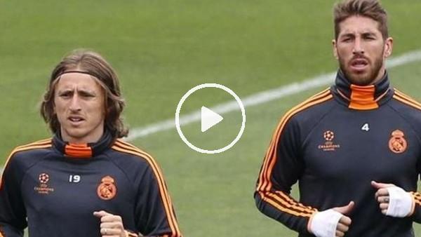 Sergio Ramos ve Modric kozlarını paylaştı