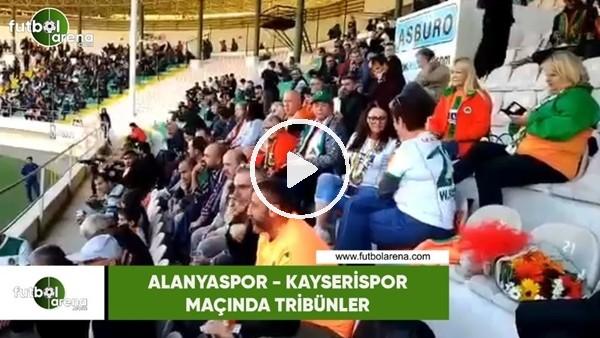 Alanyaspor - Kayserispor maçı öncesi tribünler