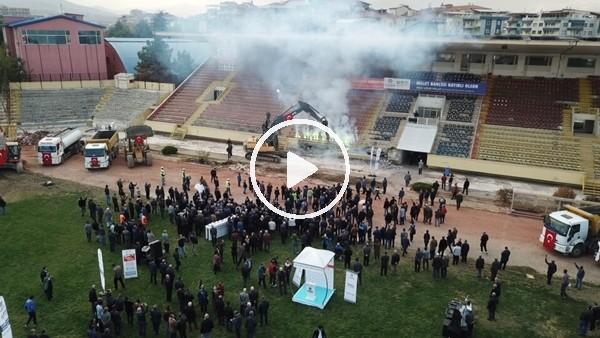 'İnanö Stadı'nın yıkımına başlandı