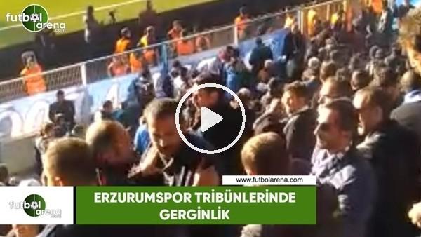 Erzurumspor tribünlerinde gerginlik