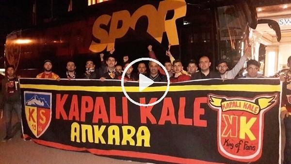 'Kayserispor'a  Başkent'te coşkulu karşılama