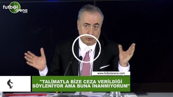 """'Mustafa Cengiz: """"Talimatla bize ceza verildiği söyleniyor ama buna inanmıyorum"""""""