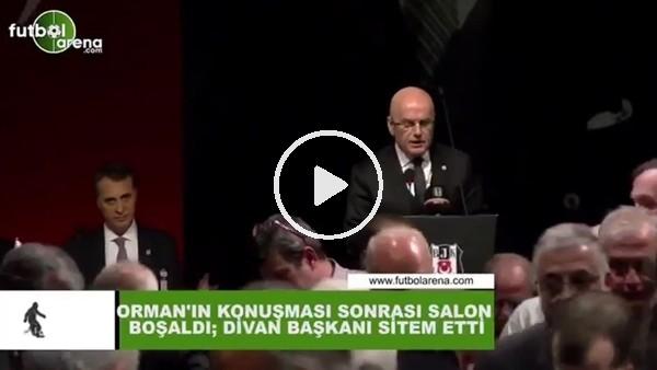 'Fikret Orman'ın konuşması sonrası salon boşaldı; Divan Başkanı sitem etti