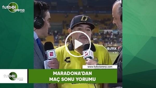 Maradona'dan maç sonu yorumu