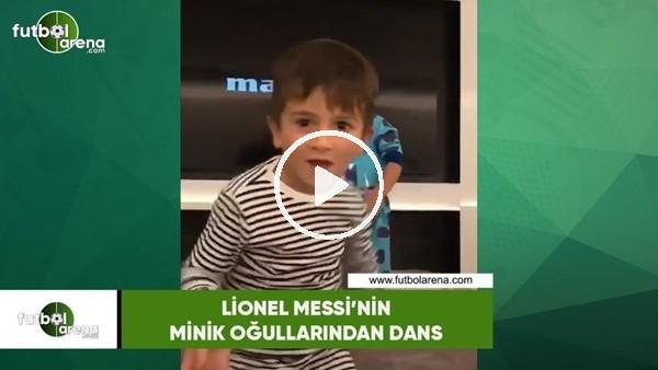 Messi'nin minik oğullarından dans