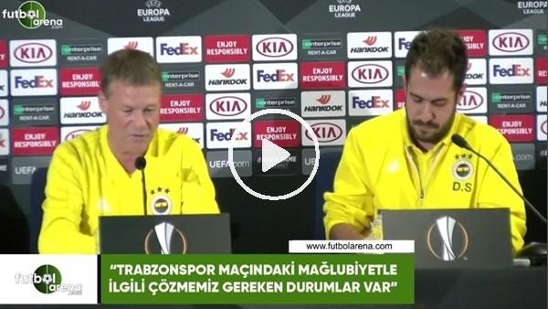 """Erwin Koeman: """"Trabzonspor maçındaki mağlubiyetle ilgili çözmemiz gereken durumlar var"""""""