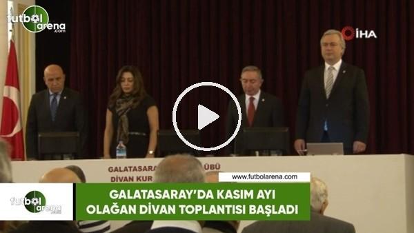'Galatasaray'da Kasım ayı olağan divan toplantısı başladı