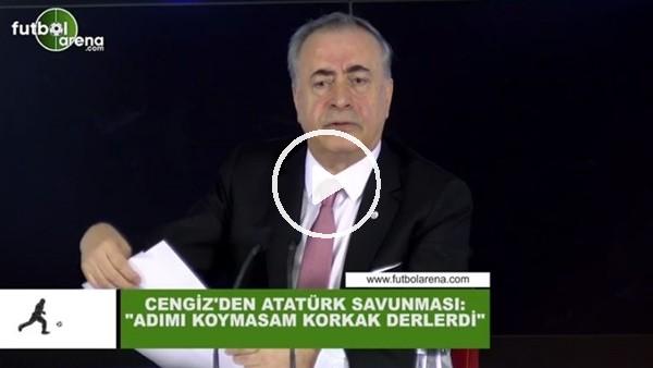 """'Mustafa Cengiz'den Atatürk savunması! """"Adımı koymasam korkak derlerdi"""""""