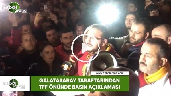 'Galatasaray taraftarından TFF'ye tepki