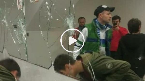 Rizespor taraftarı Medical Park Stadı'na zarar verdi
