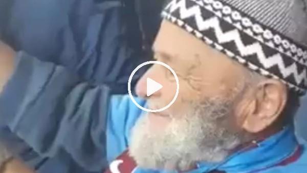 Trabzonsporlu yaşlı amcanın gol sevinci