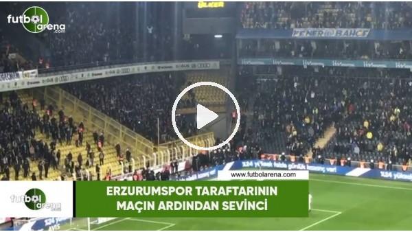 'Erzurumspor taraftarının maçın ardından sevinci