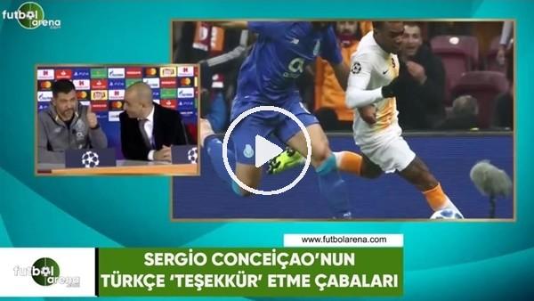 'Sergio Conceiçao'nun Türkçe 'Teşekkür' etme çabaları
