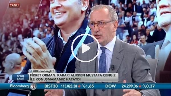"""'Fatih Altaylı: """"Fikret Orman hakemleri en çok eleştiren kişi"""""""