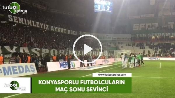'Konyasporlu futbolcuların maç sonu sevinci