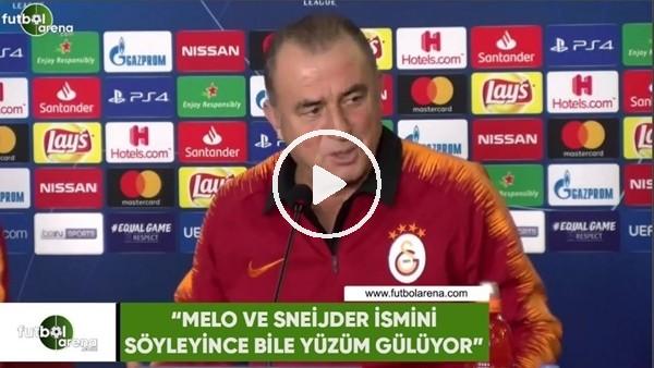 """'Fatih Terim: """"Melo ve Sneijder ismini söyleyince bile yüzüm gülüyor"""""""