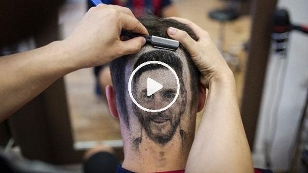 'Sırp berber Messi çılgınlığını başka boyuta taşıdı