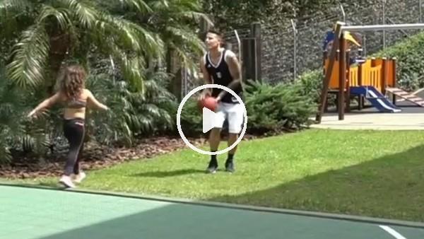 'James Rodriguez'in tatilde basketbol keyfi