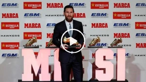 """'Lionel Messi """"Altın Ayakkabı"""" ödülünü aldı"""