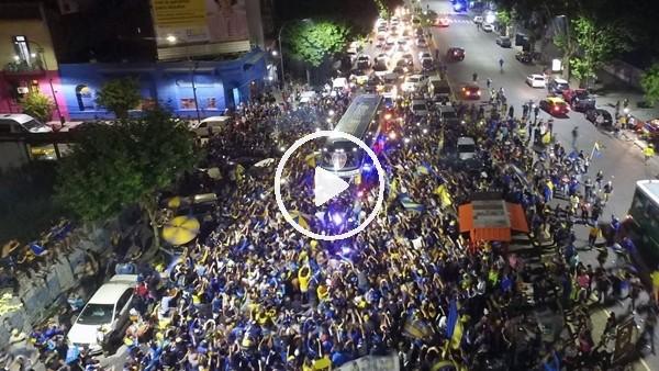 Boca Juniors, Madrid'e böyle uğurlandı